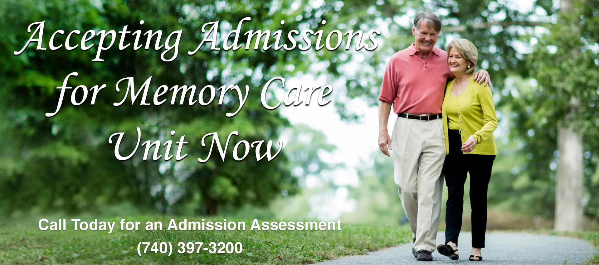 Accepting Admissions for Memory Care Unit Now